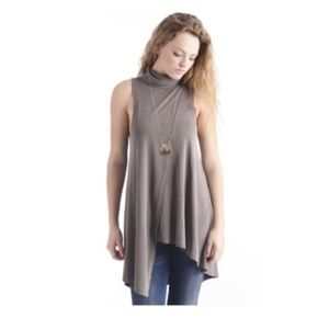 Free People Queen Anne Cowl Tunic Mini Dress Small